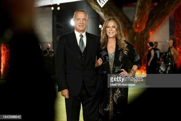 Tom Hanks and Rita Wilson attend The Academy Museum of Motion Pictures Opening Gala at The Academy Museum of Motion Pictures on September 25, 2021 in...