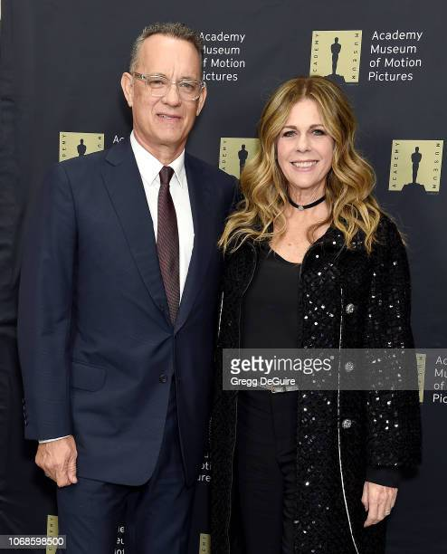 Tom Hanks and Rita Wilson attend The Academy Museum Of Motion Pictures Unveiling of the Fully Restored Saban Building at Petersen Automotive Museum...