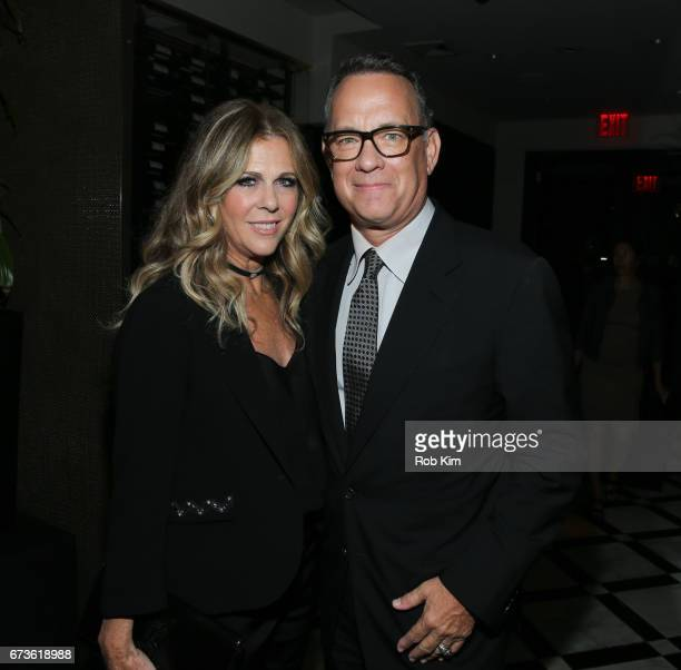 Tom Hanks and Rita Wilson attend the afterparty for 'The Circle' during the 2017 Tribeca Film Festival at American Cut Tribeca on April 26 2017 in...