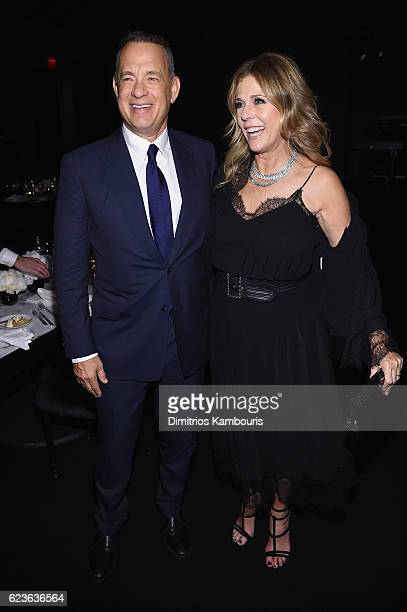 Tom Hanks and Rita Wilson attend the MoMA Film Benefit presented by CHANEL A Tribute To Tom Hanks at MOMA on November 15 2016 in New York City