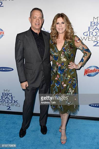 Tom Hanks and Rita Wilson attend the My Big Fat Greek Wedding 2 New York premiere at AMC Loews Lincoln Square 13 theater on March 15 2016 in New York...