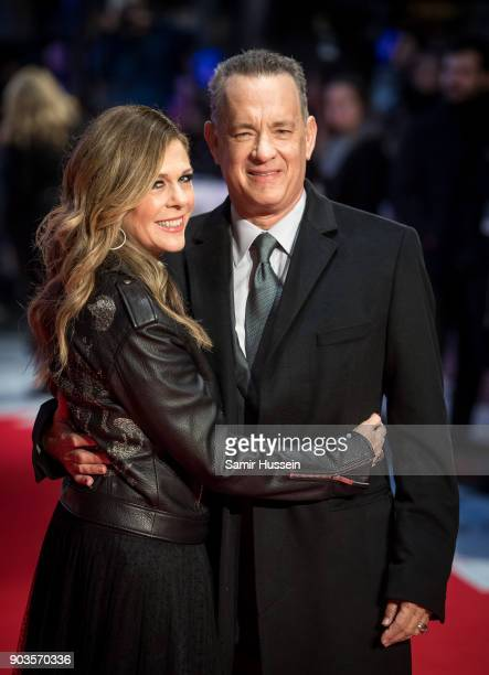 Tom Hanks and Rita Wilson attend 'The Post' European Premeire at Odeon Leicester Square on January 10 2018 in London England