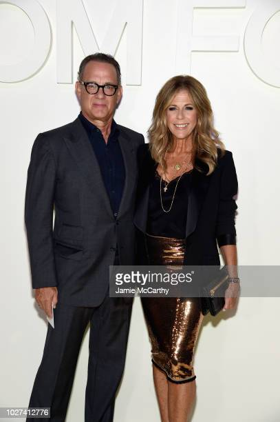 Tom Hanks and Rita Wilson attend the Tom Ford fashion show during New York Fashion Week at Park Avenue Armory on September 5 2018 in New York City