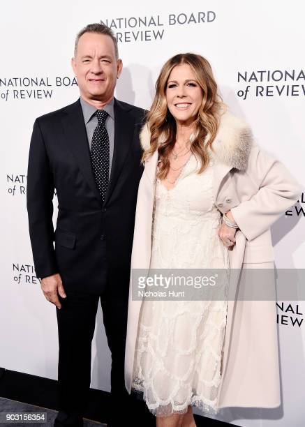 Tom Hanks and Rita Wilson attends the 2018 National Board Of Review Awards Gala at Cipriani 42nd Street on January 9 2018 in New York City