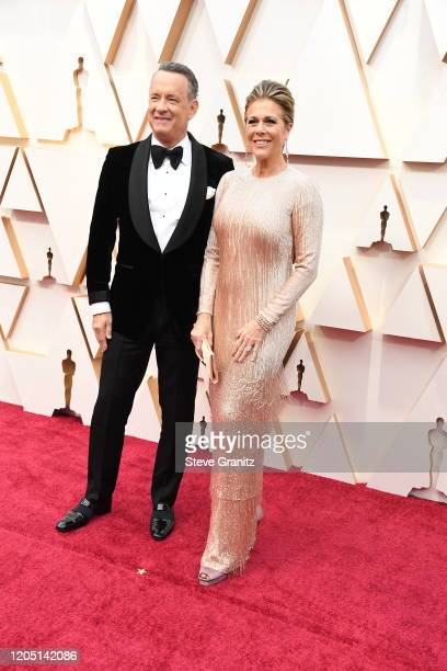 Tom Hanks and Rita Wilson attends the 92nd Annual Academy Awards at Hollywood and Highland on February 09 2020 in Hollywood California