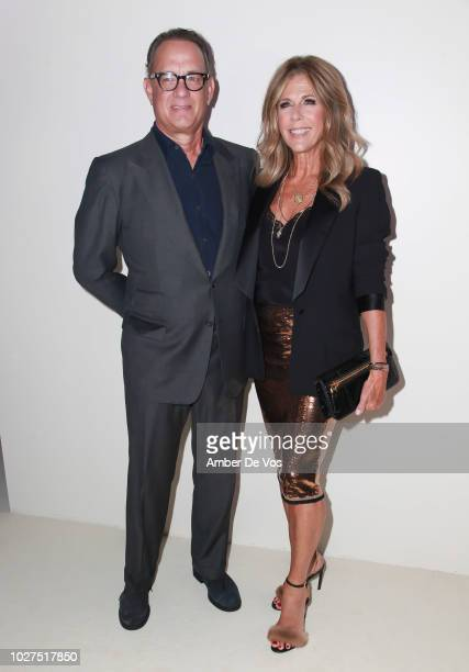 Tom Hanks and Rita Wilson attends Tom Ford SS19 Fashion Show at Park Avenue Armory on September 5 2018 in New York City