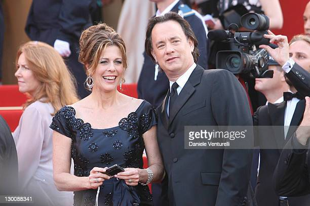 "Tom Hanks and Rita Wilson during 2006 Cannes Film Festival - Opening Night Gala and World Premiere of ""The Da Vinci Code"" - Arrivals at Palais de..."