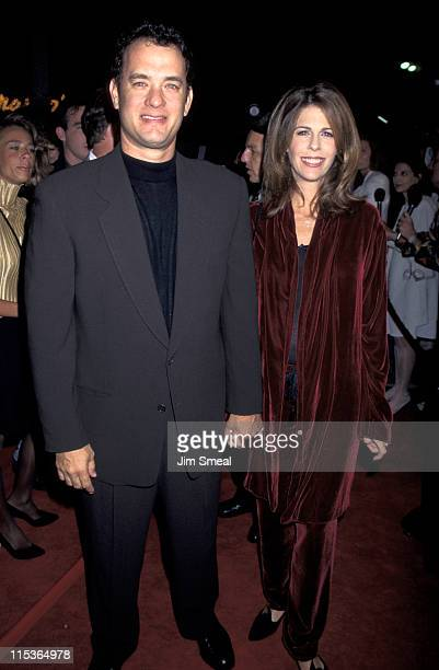 Tom Hanks and Rita Wilson during 'Now and Then' Los Angeles Premiere at Mann's Village Theater in Westwood California United States