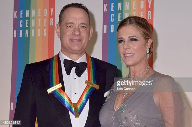 Tom Hanks and Rita Wilson walk the red carpet during the 27th Annual Kennedy Center Honors at John F Kennedy Center for the Performing Arts on...