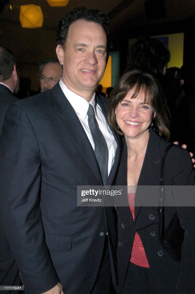 Tom Hanks and Sally Field during Shoah Foundation Exclusive Event at Amblin Entertainment on Universal Studios in Universal City, California, United States.