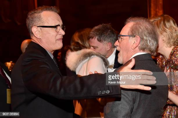 Tom Hanks and Steven Spielberg attend the National Board of Review Annual Awards Gala at Cipriani 42nd Street on January 9 2018 in New York City