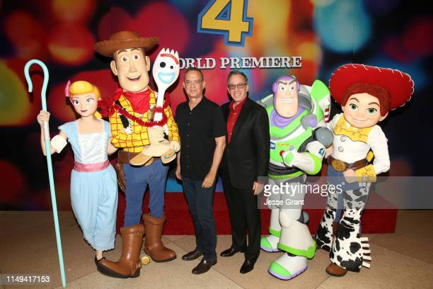 Tom Hanks and Tim Allen attend the world premiere of Disney and Pixar's TOY STORY 4 at the El Capitan Theatre in Hollywood CA on Tuesday June 11 2019