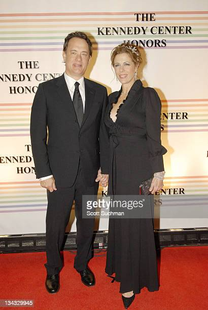 Tom Hanks and wife Rita Wilson arrive at the 2006 Kennedy Center Honors Sunday night in Washington DC The 29th Annual Kennedy Centers Honors will be...