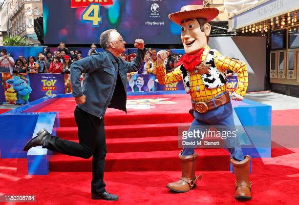 Tom Hanks and Woody attend the European Premiere of Toy Story 4 at Odeon Luxe Leicester Square on June 16 2019 in London England