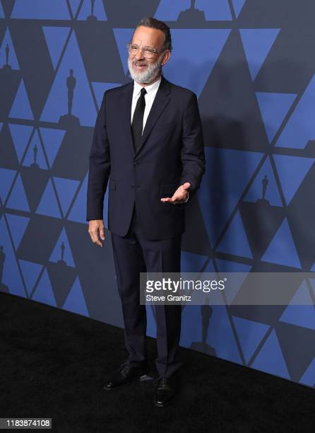 Tom Hanks arrives at the Academy Of Motion Picture Arts And Sciences' 11th Annual Governors Awards at The Ray Dolby Ballroom at Hollywood & Highland...