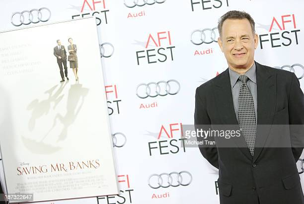 Tom Hanks arrives at the AFI FEST 2013 Saving Mr Banks opening night premiere held at TCL Chinese Theatre on November 7 2013 in Hollywood California