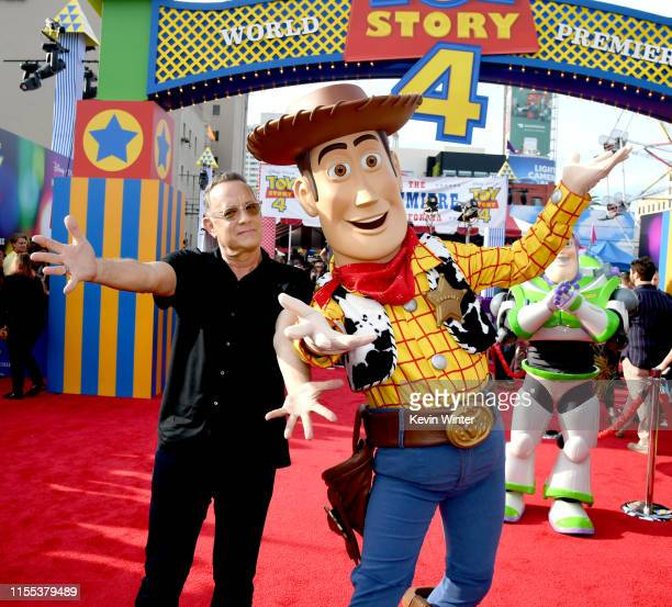 "Tom Hanks arrives at the premiere of Disney and Pixar's ""Toy Story 4"" at the El Capitan on June 11, 2019 in Los Angeles, California."