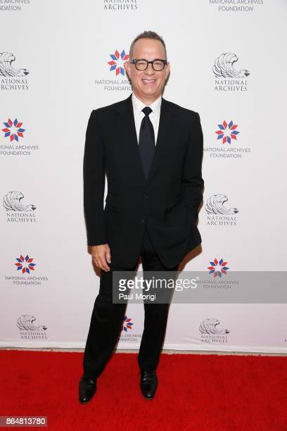 Tom Hanks at National Archives Foundation Gala on October 21 2017 in Washington DC