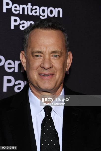 Tom Hanks attends Pentagon Papers Premiere at Cinema UGC Normandie on January 13 2018 in Paris France