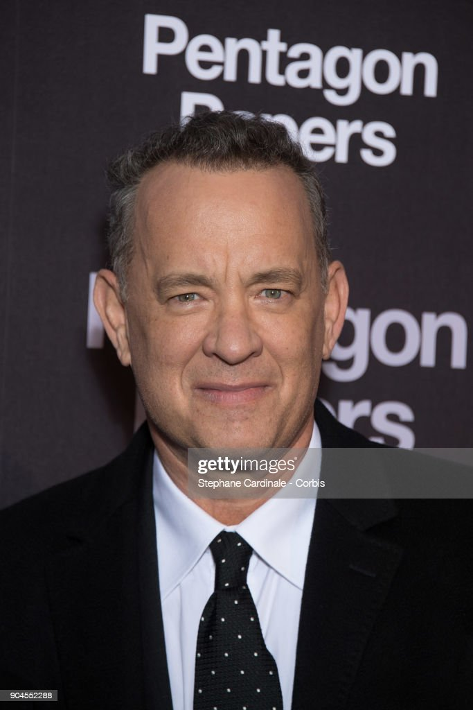 Tom Hanks attends 'Pentagon Papers' (The Post) Premiere at Cinema UGC Normandie on January 13, 2018 in Paris, France.