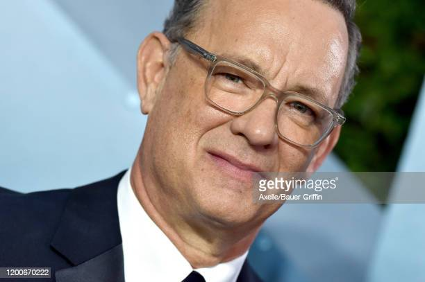 Tom Hanks attends the 26th Annual Screen Actors Guild Awards at The Shrine Auditorium on January 19 2020 in Los Angeles California