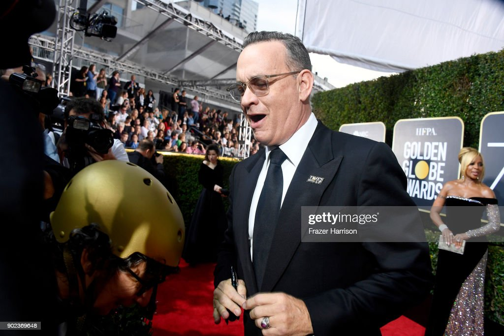 Tom Hanks attends The 75th Annual Golden Globe Awards at The Beverly Hilton Hotel on January 7, 2018 in Beverly Hills, California.