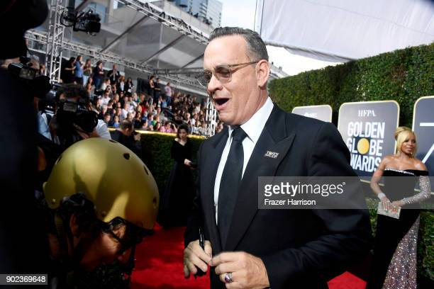 Tom Hanks attends The 75th Annual Golden Globe Awards at The Beverly Hilton Hotel on January 7 2018 in Beverly Hills California