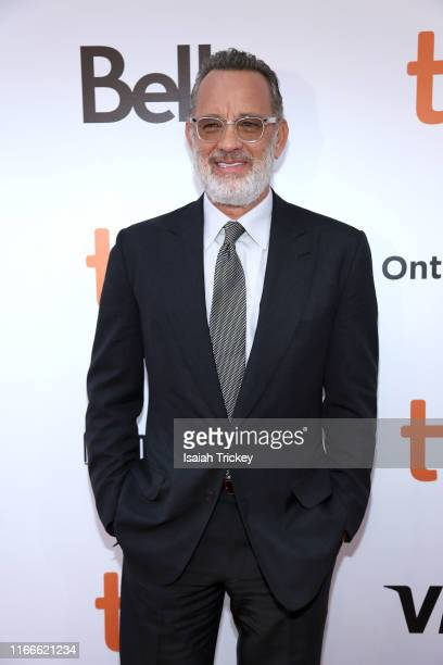 Tom Hanks attends the A Beautiful Day In The Neighborhood premiere during the 2019 Toronto International Film Festival at Roy Thomson Hall on...