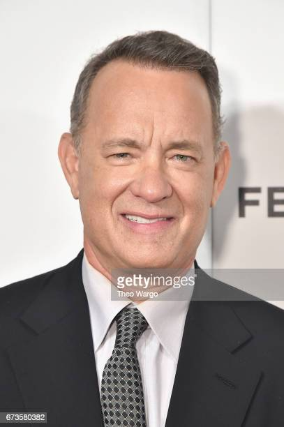 Tom Hanks attends The Circle Premiere at the BMCC Tribeca PAC on April 26 2017 in New York City