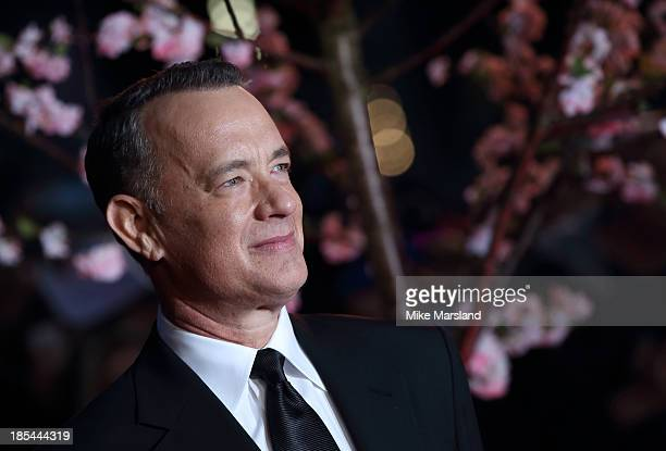 "Tom Hanks attends the Closing Night Gala European Premiere of ""Saving Mr Banks"" during the 57th BFI London Film Festival at Odeon Leicester Square on..."