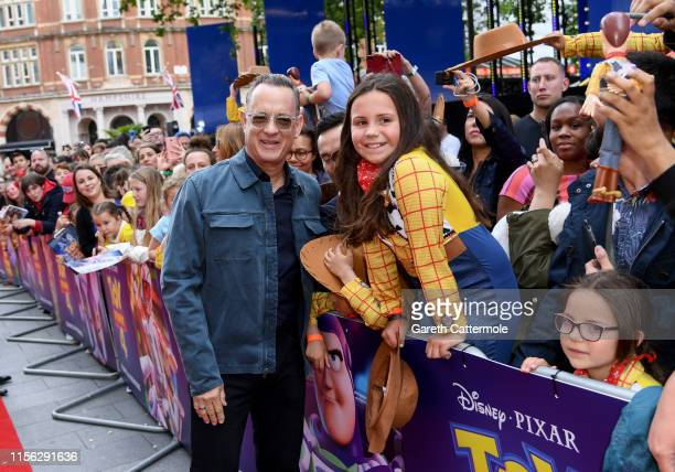 Tom Hanks attends the European premiere of Disney and Pixar's Toy Story 4 at the Odeon Luxe Leicester Square on June 16 2019 in London England