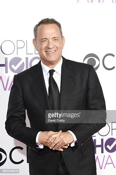 Tom Hanks attends the People's Choice Awards 2017 Arrivals at Microsoft Theater on January 18 2017 in Los Angeles California