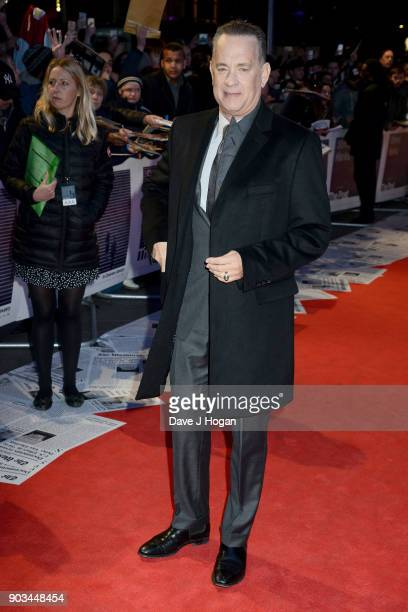 Tom Hanks attends 'The Post' European Premiere at Odeon Leicester Square on January 10 2018 in London England