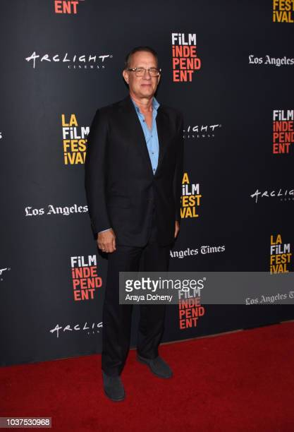 """Tom Hanks attends the screening of """"Simple Wedding"""" during the 2018 LA Film Festival at ArcLight Culver City on September 21, 2018 in Culver City,..."""