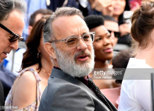 Tom Hanks attends the star ceremony for his wife Rita Wilson on the Hollywood Walk of Fame on March 29 2019 in Hollywood California