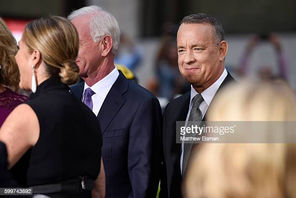 """Tom Hanks attends the """"Sully"""" New York Premiere at Alice Tully Hall on September 6, 2016 in New York City."""