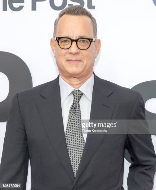 Tom Hanks attends the 'The Post' Washington DC Premiere at The Newseum on December 14 2017 in Washington DC
