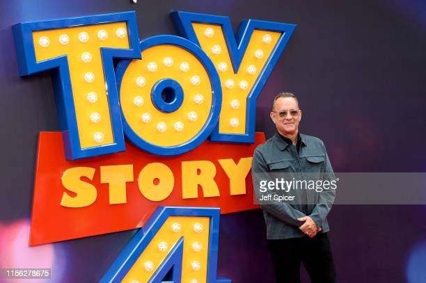 Tom Hanks attends the Toy Story 4 European Premiere at Odeon Luxe Leicester Square on June 16 2019 in London England