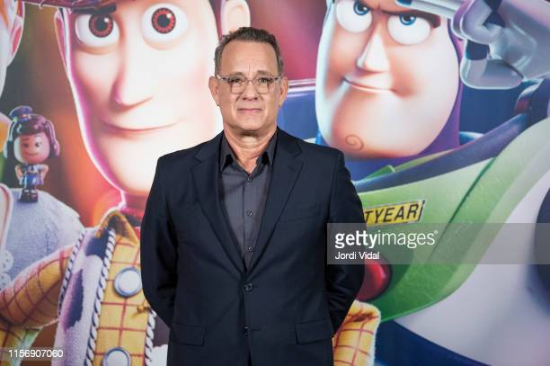Tom Hanks attends the 'Toy Story 4' photocall on June 19 2019 in Barcelona Spain