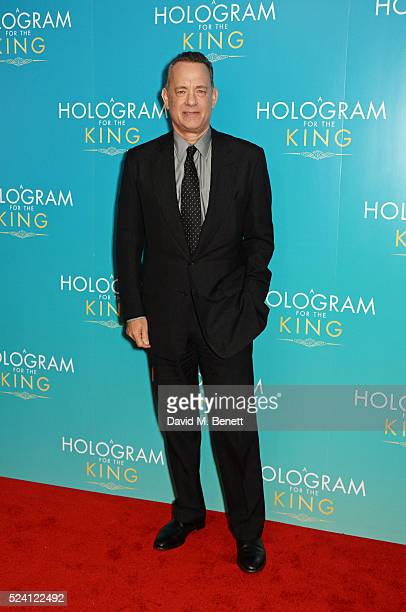Tom Hanks attends the UK Premiere of A Hologram For The King at the BFI Southbank on April 25 2016 in London England