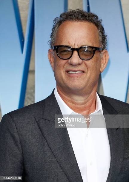 Tom Hanks attends the UK Premiere of Mamma Mia Here We Go Again at Eventim Apollo on July 16 2018 in London England