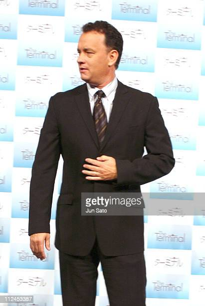 """Tom Hanks during 17th Annual Tokyo International Film Festival - """"The Terminal"""" Press Conference at Imperial Hotel in Tokyo, Japan."""