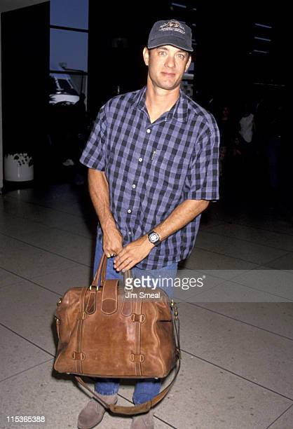 Tom Hanks during Tom Hanks Sighting at LAX July 1 1993 at Los Angeles International Airport in Los Angeles California United States