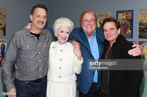 Tom Hanks Holland Taylor Bob Boyett and Peter Scolari attend Ann Broadway Rehearsal Performance at Vivian Beaumont Theatre at Lincoln Center on...