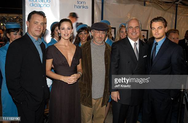 Tom Hanks Jennifer Garner Steven Spielberg Frank Abangale Jr and Leonardo DiCaprio