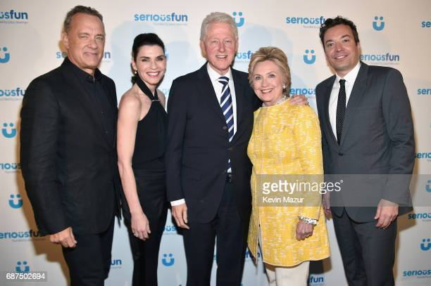 Tom Hanks Julianna Margulies President Bill Clinton Former United States Secretary of State Hillary Clinton and Jimmy Fallon attend the SeriousFun...