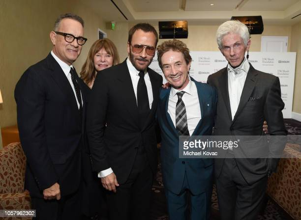 Tom Hanks, Kate Capshaw, Tom Ford, Martin Short, and Richard Buckley attend the Ambassadors For Humanity Gala Benefiting USC Shoah Foundation...