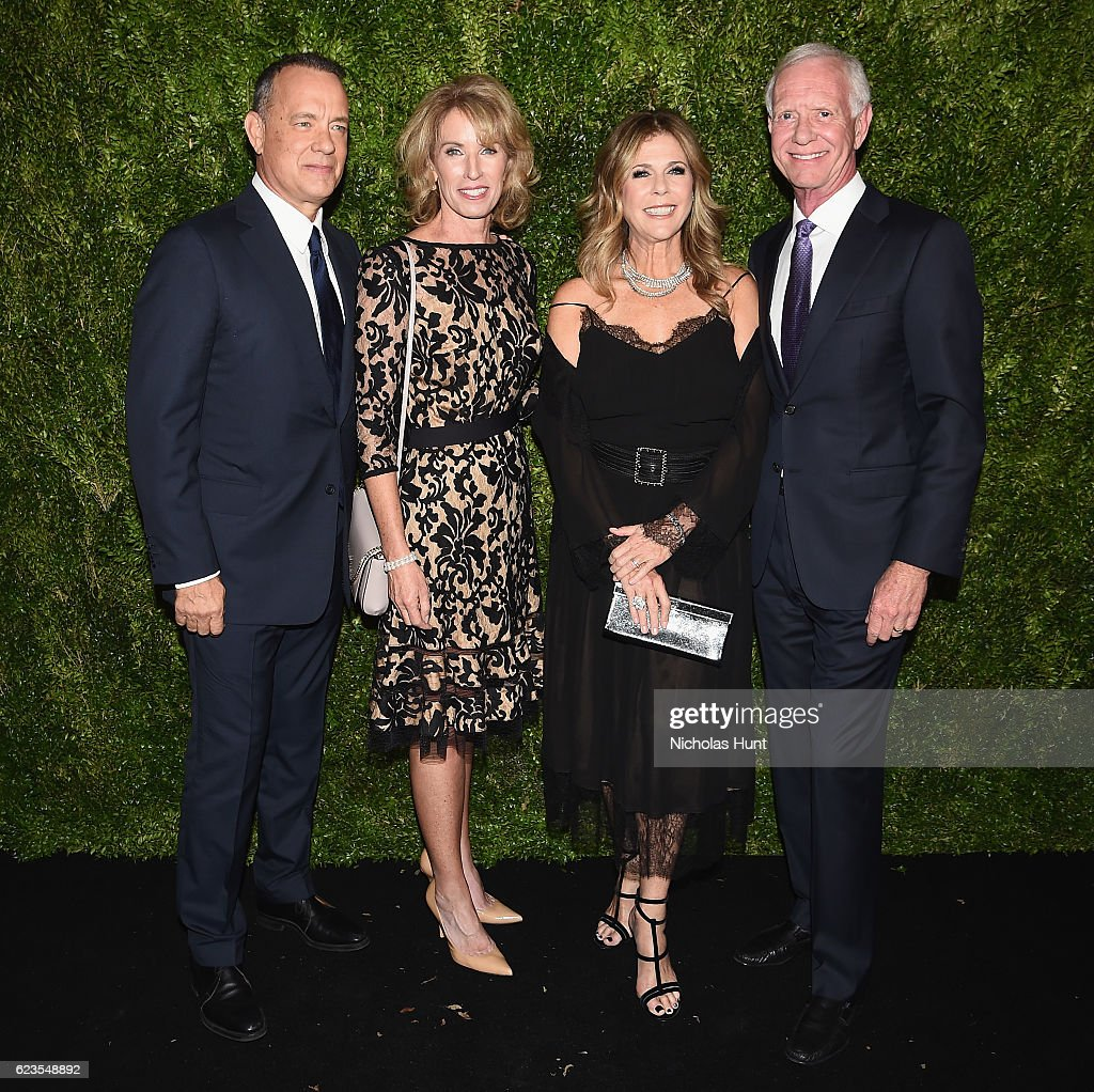 Tom Hanks, Lorrie Sullenberger, Rita Wilson and Captain Chesley Sullenberger attend the MoMA Film Benefit presented by CHANEL, A Tribute To Tom Hanks at MOMA on November 15, 2016 in New York City.