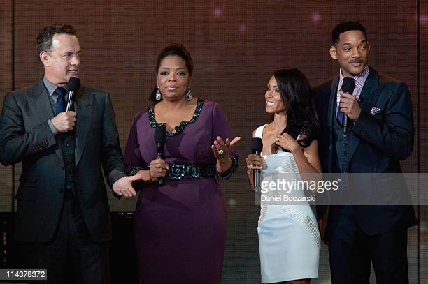 Tom Hanks, Oprah, Jada Pinkett Smith and Will Smith attend Surprise Oprah! A Farewell Spectacular at the United Center on May 17, 2011 in Chicago,...