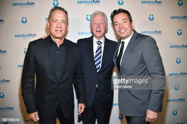 Tom Hanks President Bill Clinton and Jimmy Fallon attend the SeriousFun Children's Network Gala at Pier 60 on May 23 2017 in New York City